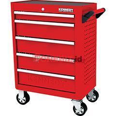 Distributor Kennedy KEN5942120K RED-28 Inch 5 DRAWER ROLLER CABINET, Jual Kennedy KEN5942120K RED-28 Inch 5 DRAWER ROLLER CABINET
