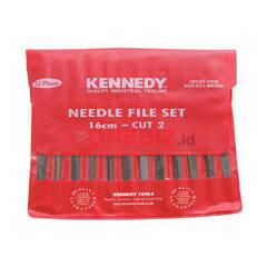 "Distributor Kennedy KEN0316990K 16cm (6.1/2"") CUT 2 ASSORTED NEEDLE FILE SET-12PCE, Jual Kennedy KEN0316990K 16cm (6.1/2"") CUT 2 ASSORTED NEEDLE FILE SET-12PCE"