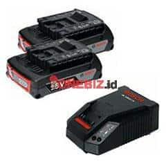 Distributor Bosch Starter Kit 2X18V 2.0Ah + GAL 1860 CV, Jual Bosch Starter Kit 2X18V 2.0Ah + GAL 1860 CV