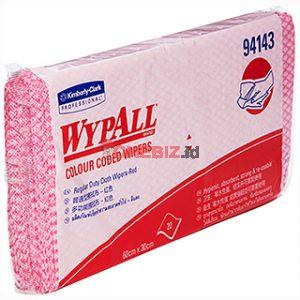 Distributor Color Code Wipers Regular Duty Single RED 60x30cm Satuan Pack WYPALL 94143, Jual Color Code Wipers Regular Duty Single RED 60x30cm Satuan Pack WYPALL 94143